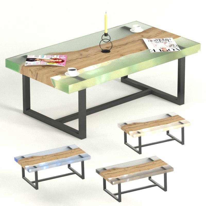 Slab Epoxy Coffee Tables 3d Turbosquid 1383161