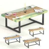 slab epoxy coffee tables 3D