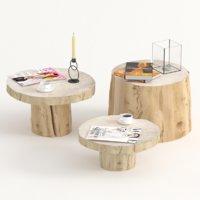 3D model tables cut decor