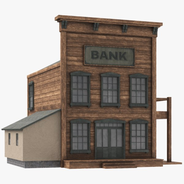 western bank 3D model