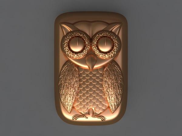 3D owl mold ready model