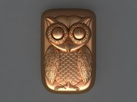 3D owl mold ready model