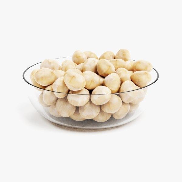 macadamia nuts 3D model