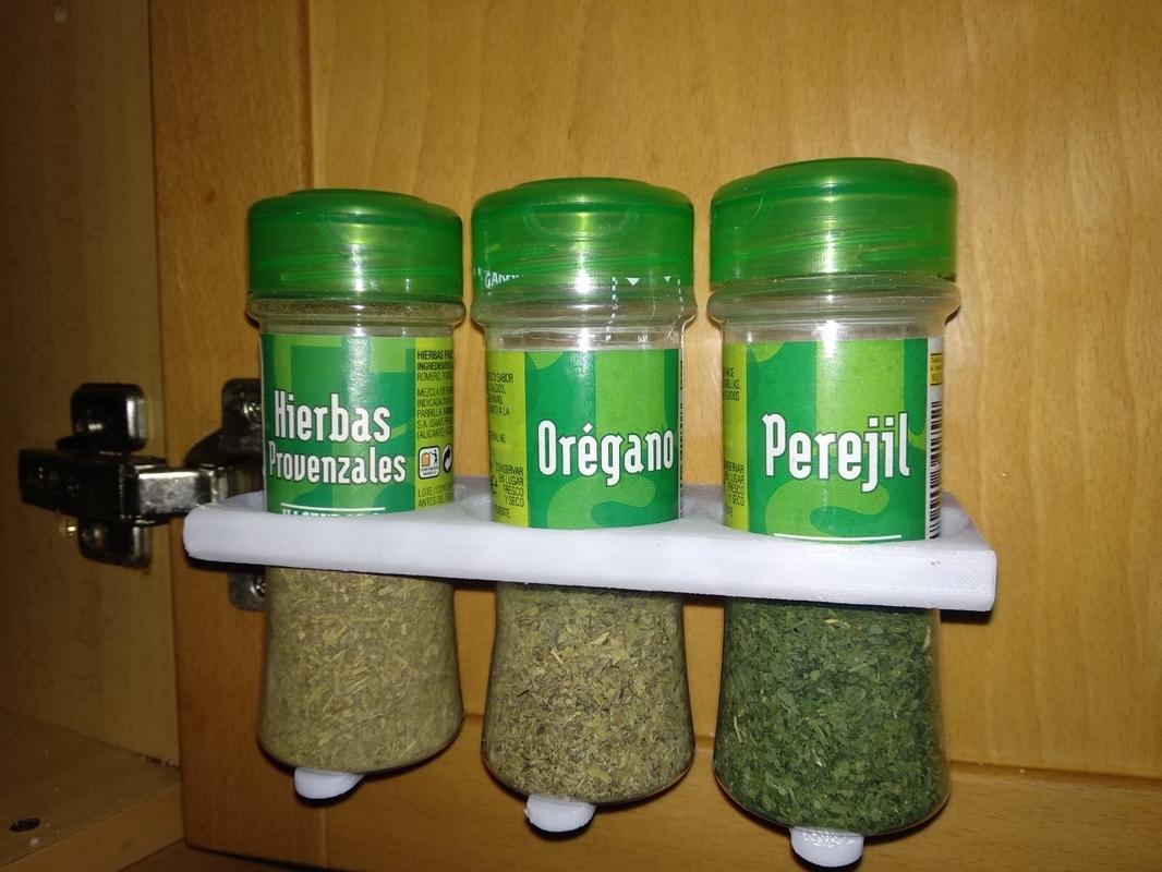 printable shelf spices condiments 3D