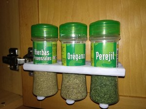 printable shelf spices condiments 3D