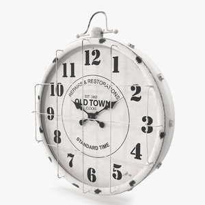 pbr old town clock 3D model