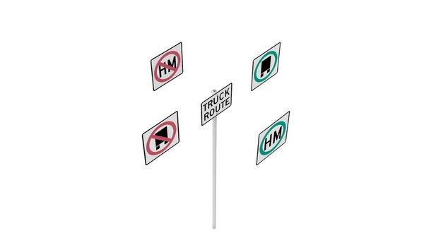 road sign r14 series 3D model