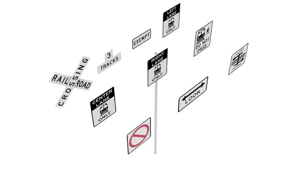 3D road sign r15 series model