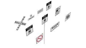 3D road sign r15 series model