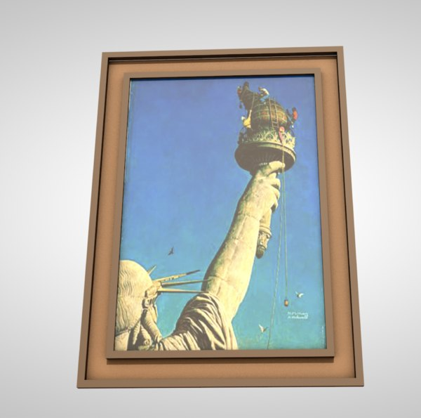 picture frame painting 3D model
