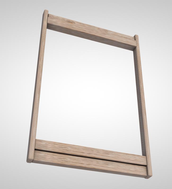 3D rustic frame model