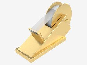 3D tape dispenser model