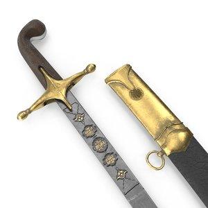 3D ottoman sword