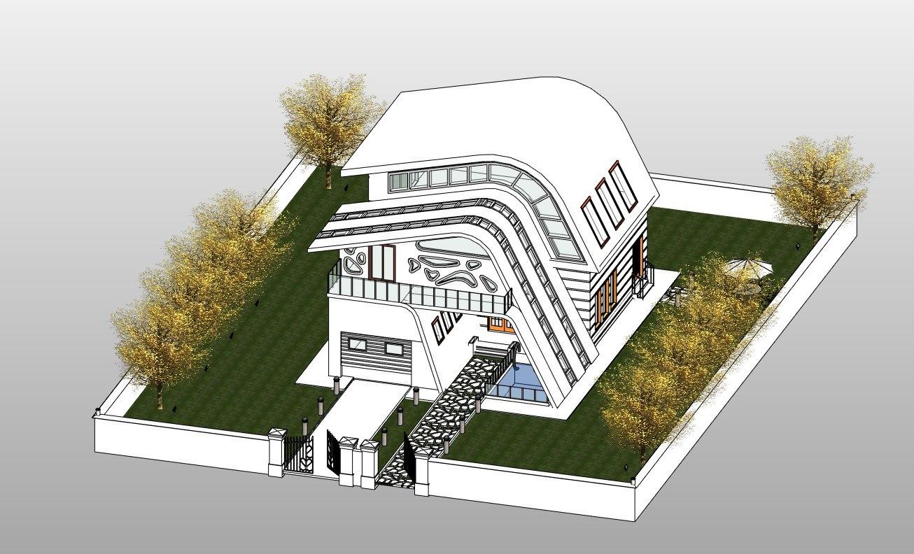 Revit Amorph Villa Exterior