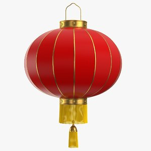 3d model chinese paper lantern lights