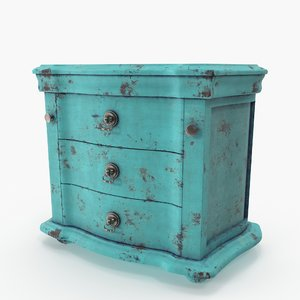 vintage blue dresser 3D model