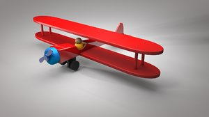 3D old jet toy model
