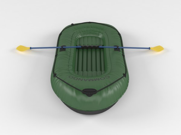 3D model inflatable fishing boat