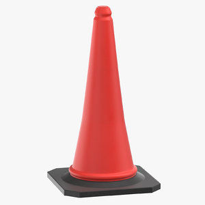 construction cone 02 model