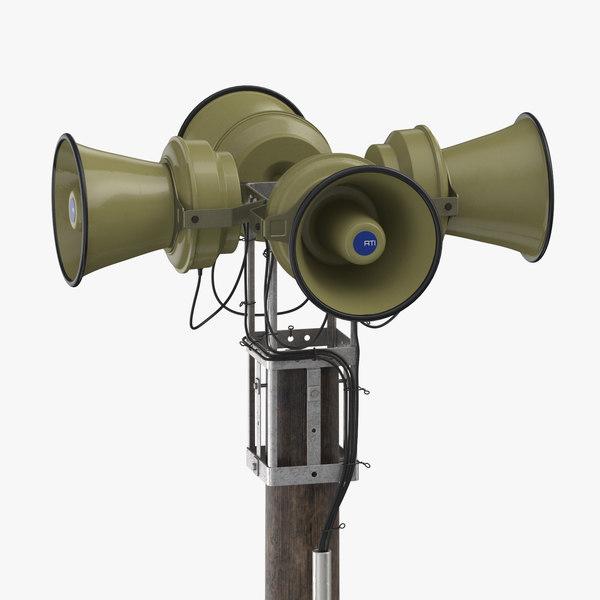 emergency siren 3D model