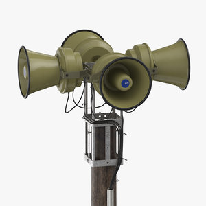 emergency siren 3D model