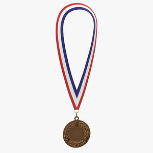 3D olympic style medal 01