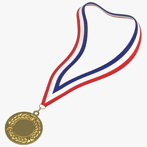 olympic style medal 01 model