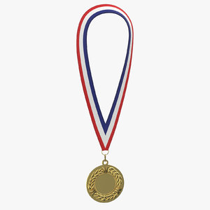 olympic style medal 01 3D model