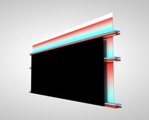 tv studio backdrop 3D model