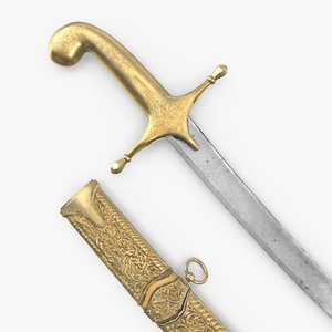 ottoman sword 3D model