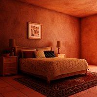 3d bed lamps frame