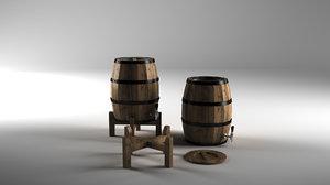 wine barrels bar model