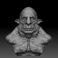3D bust troll