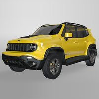 jeep renegade yellow trailhawk model