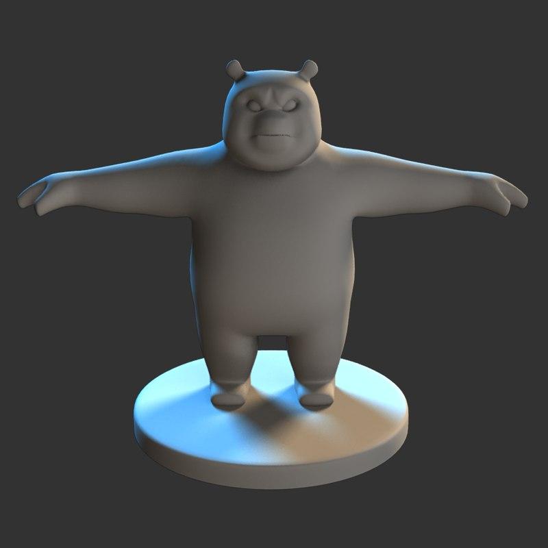 panda modeled model
