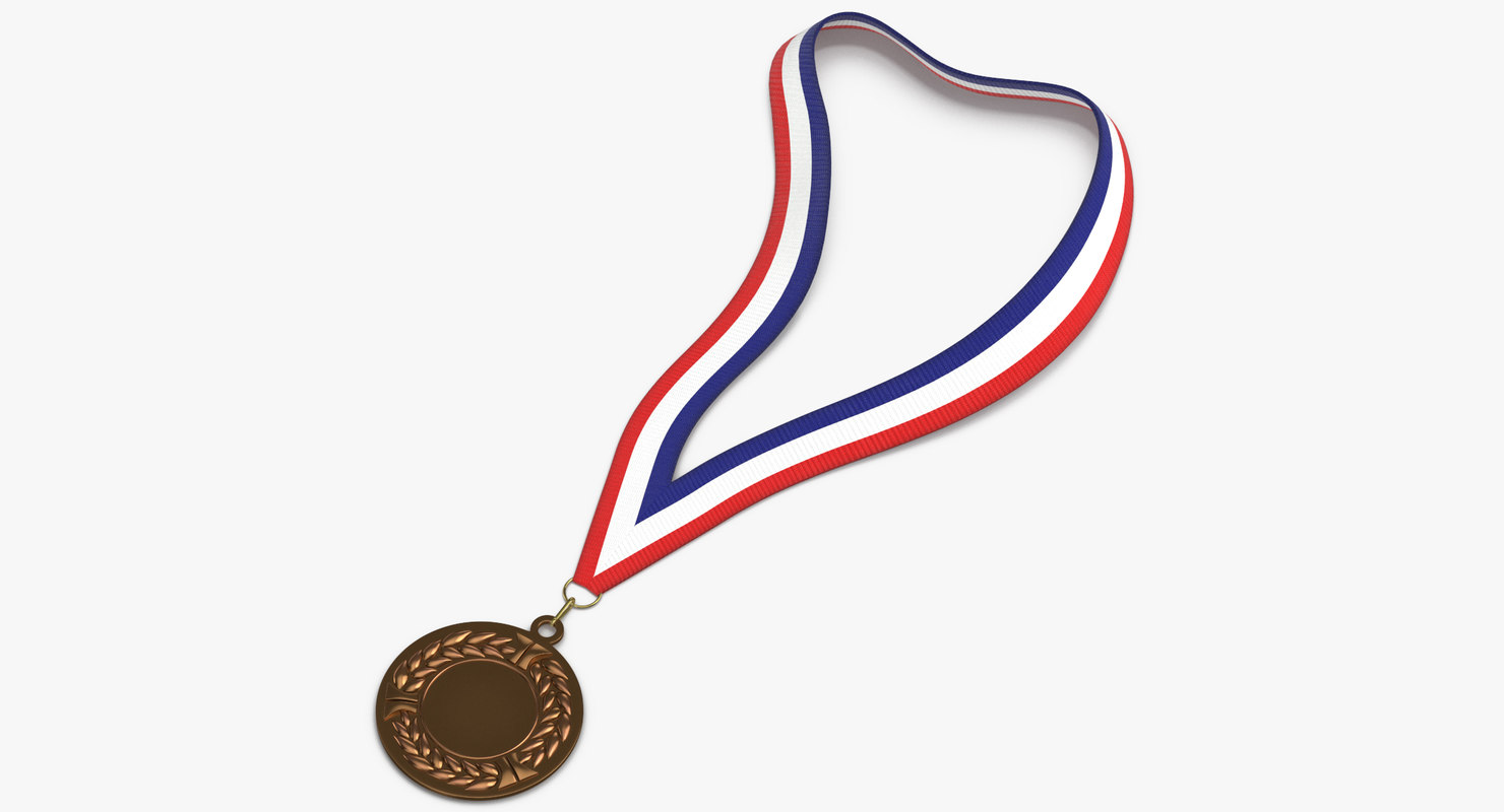 3D model olympic style medal 01