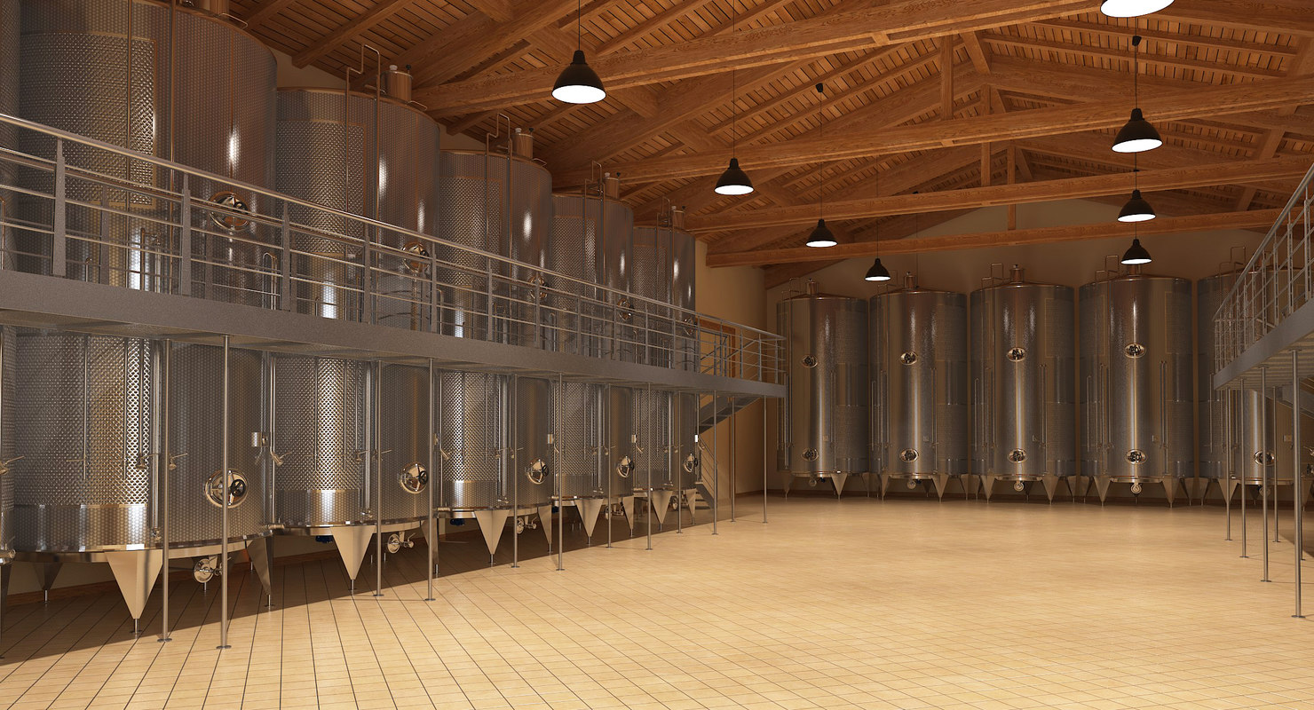 3D wine manufacture interior model