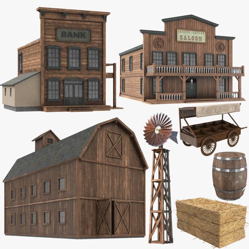 western modeled 3D model
