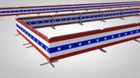 3D rack barrier fence