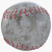 3D model baseball base ball