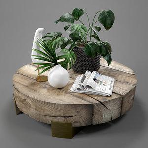 3D table beam coffee