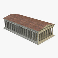 pantheon temple greek 3D