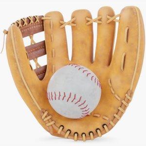 3D baseball set ball model