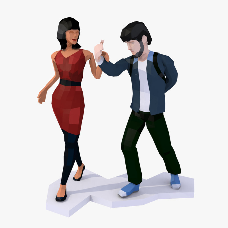 style couple casual man 3D model
