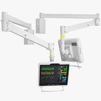 hospital arm monitor rigged 3D