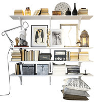 Shelving decor set