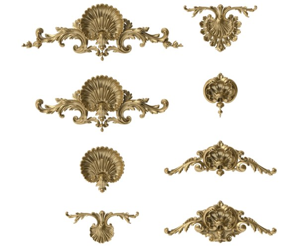 3D shell acanthus leaves model