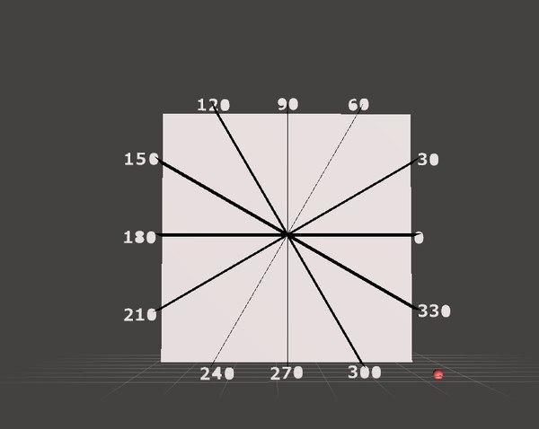 3D 30 degrees tridimensional grid