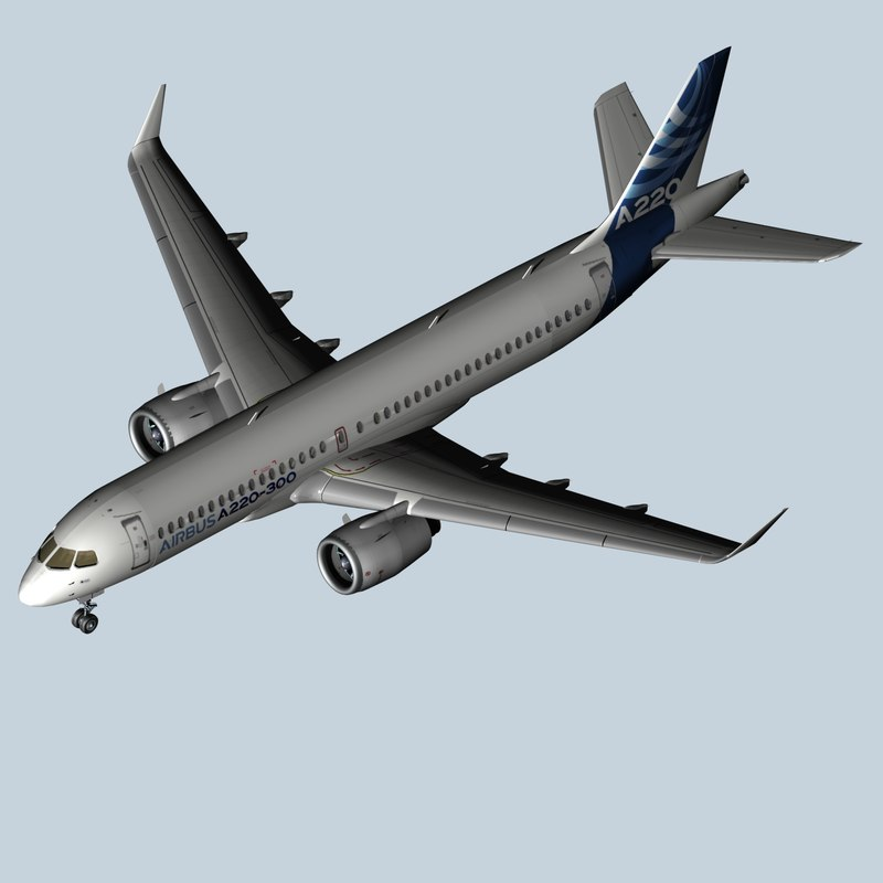 new airbus a220 model