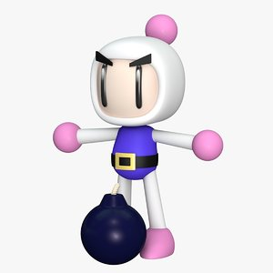 3D shiron bom super bomberman model